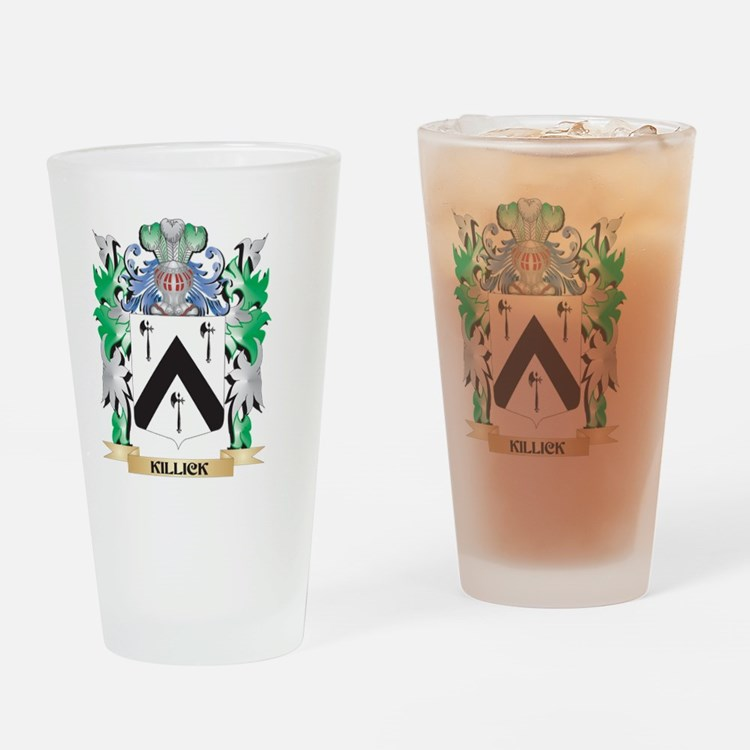 Killick Coat of Arms - Family Crest Drinking Glass