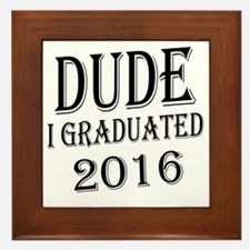 Cute Graduation Framed Tile