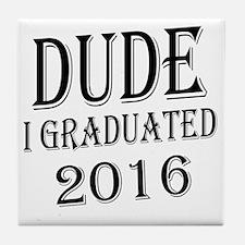 Cute College graduation Tile Coaster