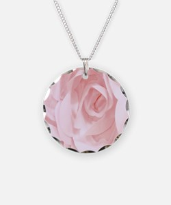 Material Rose Necklace