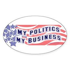 Oval myob politics sticker