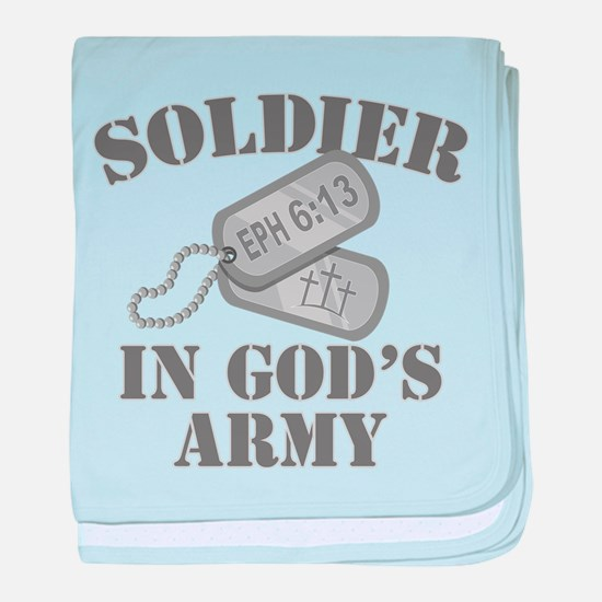 Soldier God's Army baby blanket