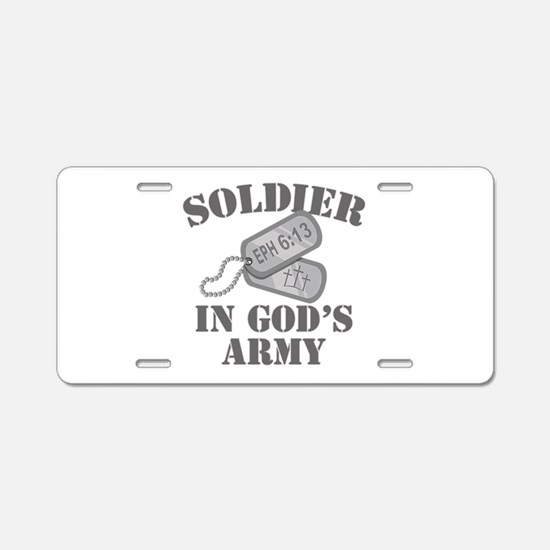 Soldier God's Army Aluminum License Plate