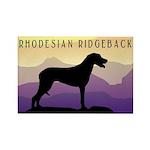 Ridgeback Dog Mountains Rectangle Magnet (100 pack