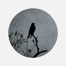 Majestic Crow Button