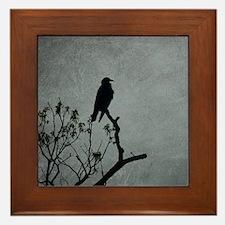 Majestic Crow Framed Tile