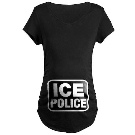 ICE Police Maternity Dark T-Shirt