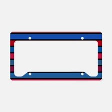 Multicolored Stripes: Shades License Plate Holder
