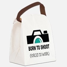 Born to Shoot Forced to Work Canvas Lunch Bag