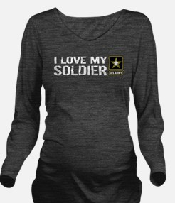 U.S. Army: I Love My Soldier Long Sleeve Maternity
