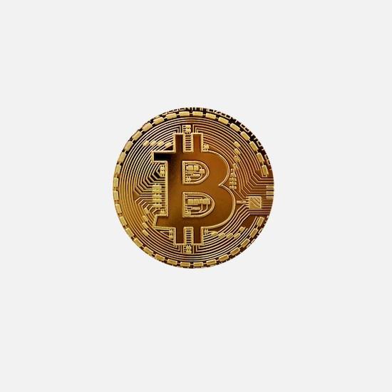 Bitcoin Logo Symbol Design Icon Mini Button