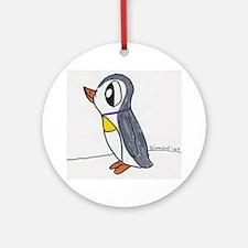 Simon's Arctic Penguin Ornament (Round)