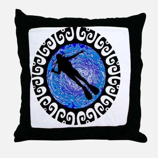 Cute Dive cancun Throw Pillow