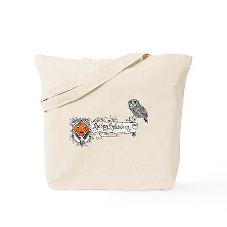 Halloween Owl Tote Bag