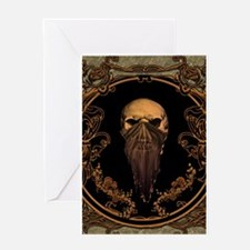 Amazing skull on a frame Greeting Cards