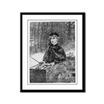 Ride in the Snow Framed Panel Print