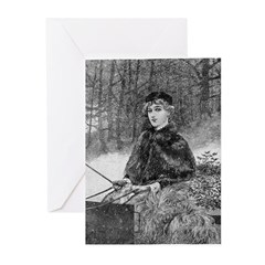 Ride in the Snow Greeting Cards (Pk of 20)