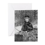 Ride in the Snow Greeting Cards (Pk of 10)