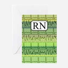 RN case green Greeting Cards