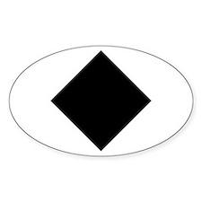 Black Diamond Ski Oval Sticker