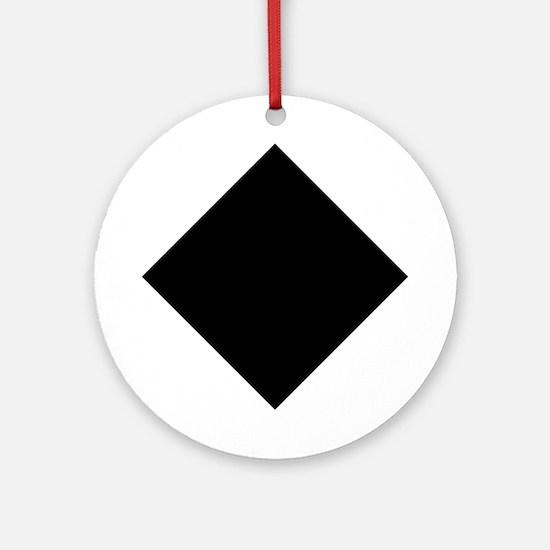 Black Diamond Ski Ornament (Round)