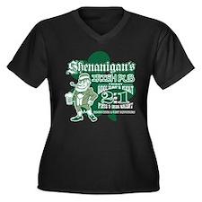 Shenanigan's Irish Pub (dark  Women's Plus Size V-