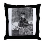 Ride in the Snow Throw Pillow