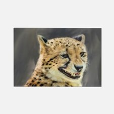 Painting Grinning Cheetah Portrait Magnets