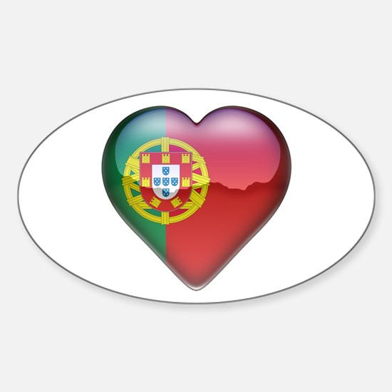 Portugal Heart Oval Decal