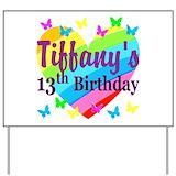 Happy 13th birthday Yard Signs