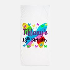 PERSONALIZED 13TH Beach Towel