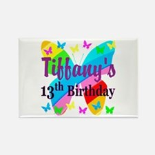 PERSONALIZED 13TH Rectangle Magnet