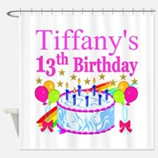 PERSONALIZED 13TH Shower Curtain