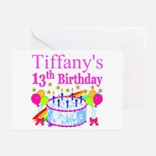 PERSONALIZED 13TH Greeting Cards (Pk of 10)