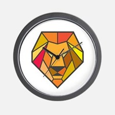 Lion Head Low Polygon Wall Clock