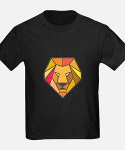 Lion Head Low Polygon T-Shirt