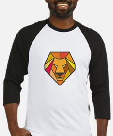 Lion Head Low Polygon Baseball Jersey