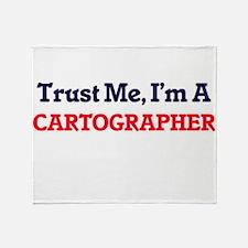 Trust me, I'm a Cartographer Throw Blanket