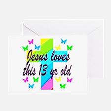 CHRISTIAN 13TH Greeting Card