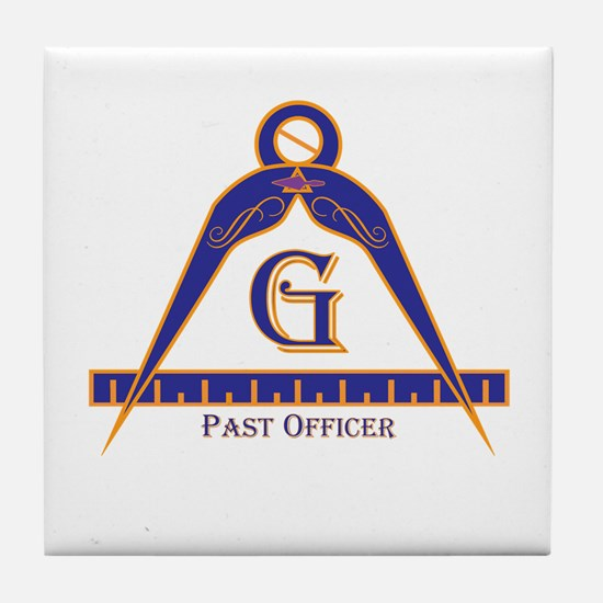 Past Officer w/24 inch Gage Tile Coaster