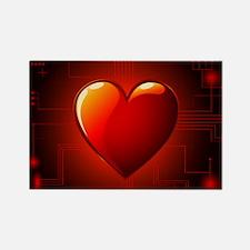 Digital Heart Rectangle Magnet