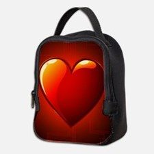 Digital Heart Neoprene Lunch Bag