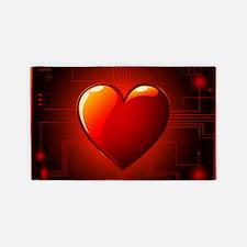 Digital Heart Area Rug