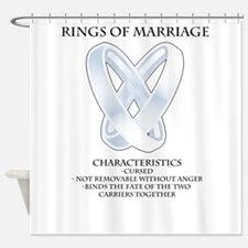 RPG - rings of marriage Shower Curtain
