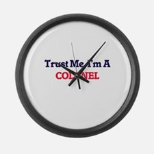 Trust me, I'm a Colonel Large Wall Clock