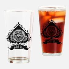 Poker face Drinking Glass