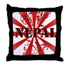 Vintage Nepal Throw Pillow