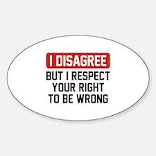 I Disagree Decal