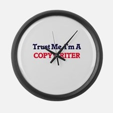 Trust me, I'm a Copywriter Large Wall Clock