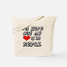 Heart in Nepal Tote Bag